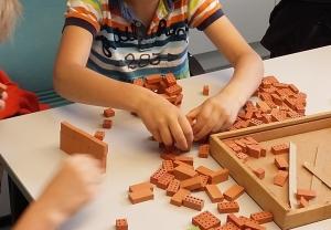 Bauen mit Miniziegelsteine