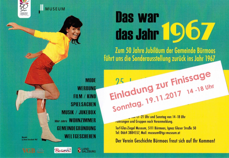 """Finissage """"Das war das Jahr 1967"""""""
