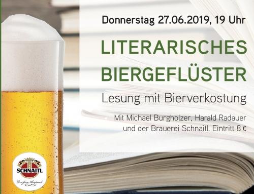 LITERARISCHES BIERGEFLÜSTER – Lesung mit Bierverkostung